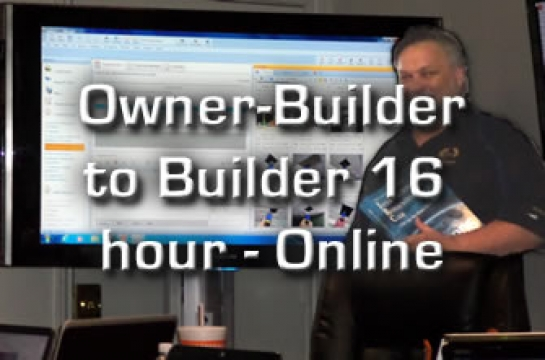 Owner-Builder Intermediate 16 hours Online