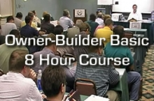 "Owner-Builder Basic ""Must Know"" 1 Day Course"
